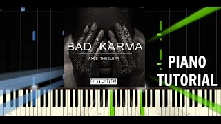 Axel Thesleff - Bad Karma - TrapNation - Piano Tutorial / Cover - Synthesia