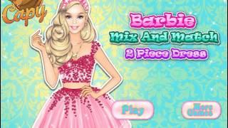 Мультик игра Одевалка: Платья из двух частей (Barbie Mix And Match: 2 Piece Dress)