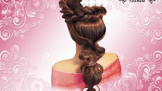 Красивая прическа в греческом стиле. beautiful hairstyle. Kapralova Olga