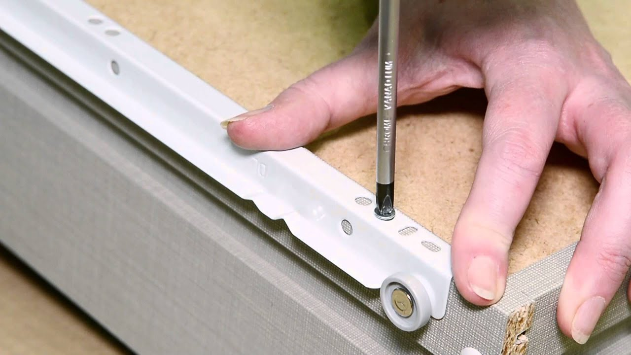 How to fix bottom mounted runners to carcase and drawer box YouTube
