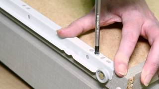 How to fix bottom mounted runners to carcase and drawer box