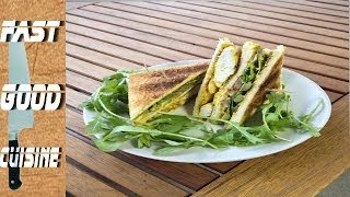 Recette facile : Club sandwich poulet curry | FastGoodCuisine