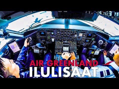 Piloting AIR GREENLAND Dash8 Into ILULISAAT