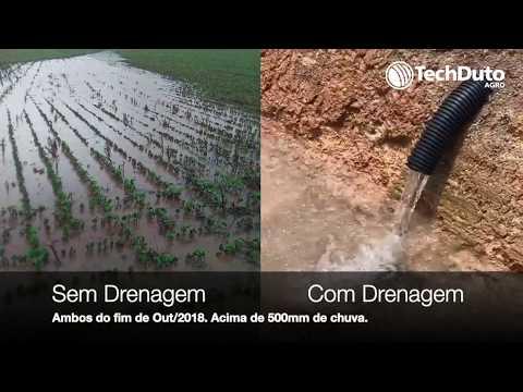 Comparativo de áreas, não drenada e drenada com techdreno - TechDuto