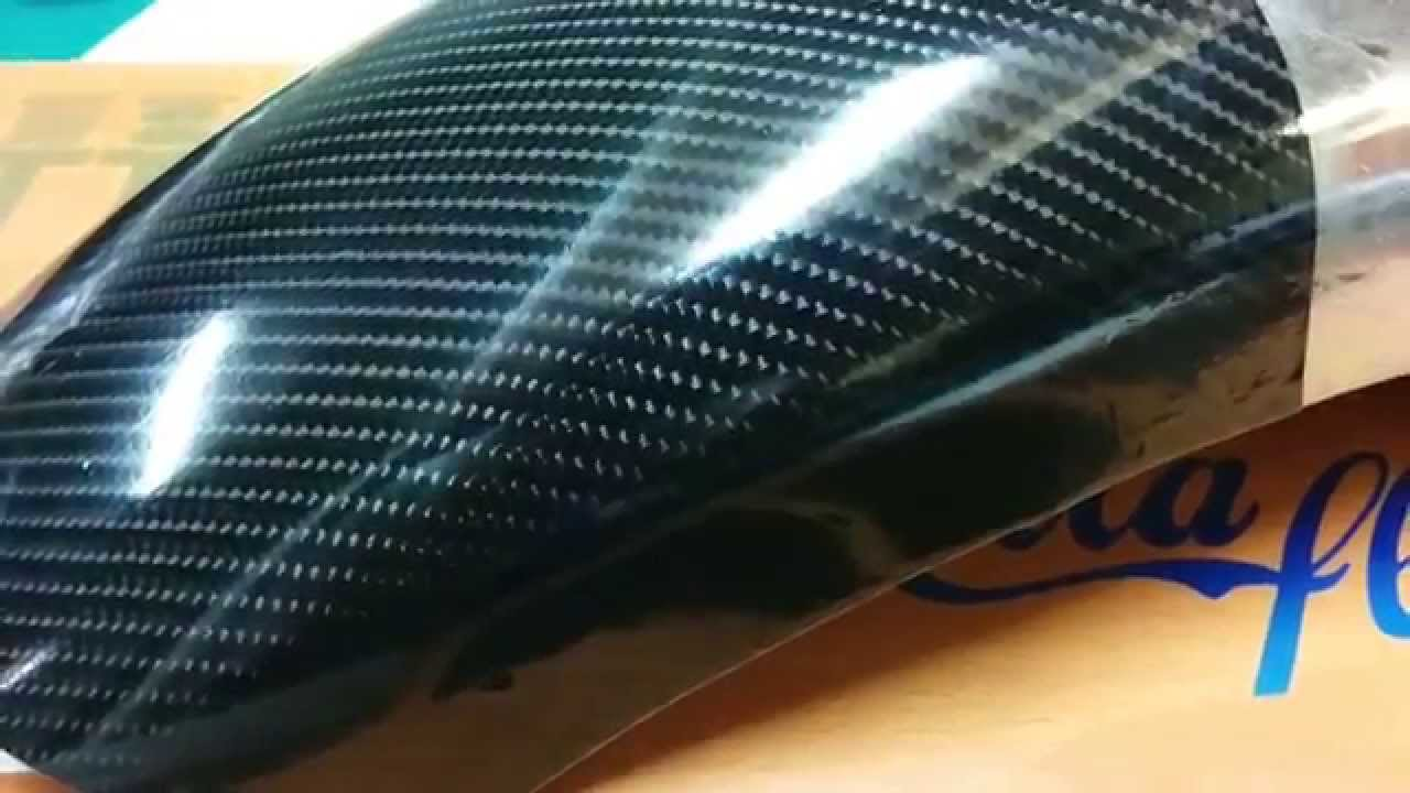 4d Gloss Carbon Fiber Wrap Teckwrap Youtube