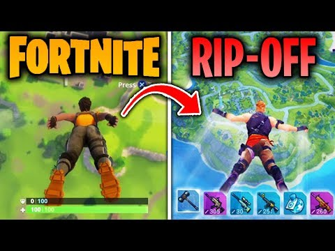 Top 5 Games That COPIED FORTNITE BATTLE ROYALE! (Fortcraft & More!)
