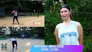 Avery Neuer Softball Skills Video Middle School Grad 2022 Pitcher and 1st Base Softball Athlete