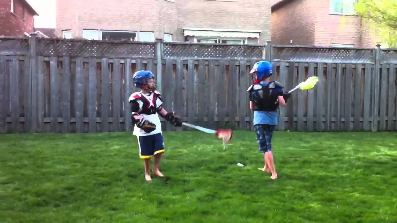 backyard lacrosse 4 years later youtube