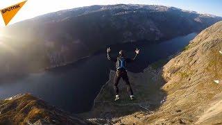風光明媚なノルウェーのシェラーグボルテン。高原は1キロにわたって続...
