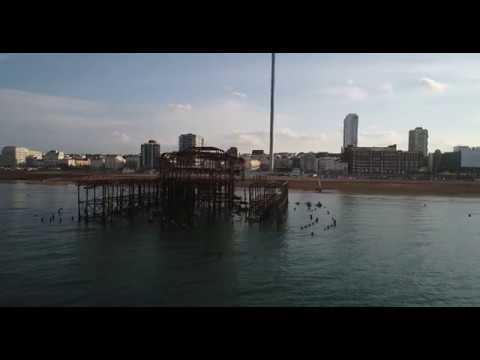 Brighton West Pier Ruins filmed with my DJI Phantom 4 Pro