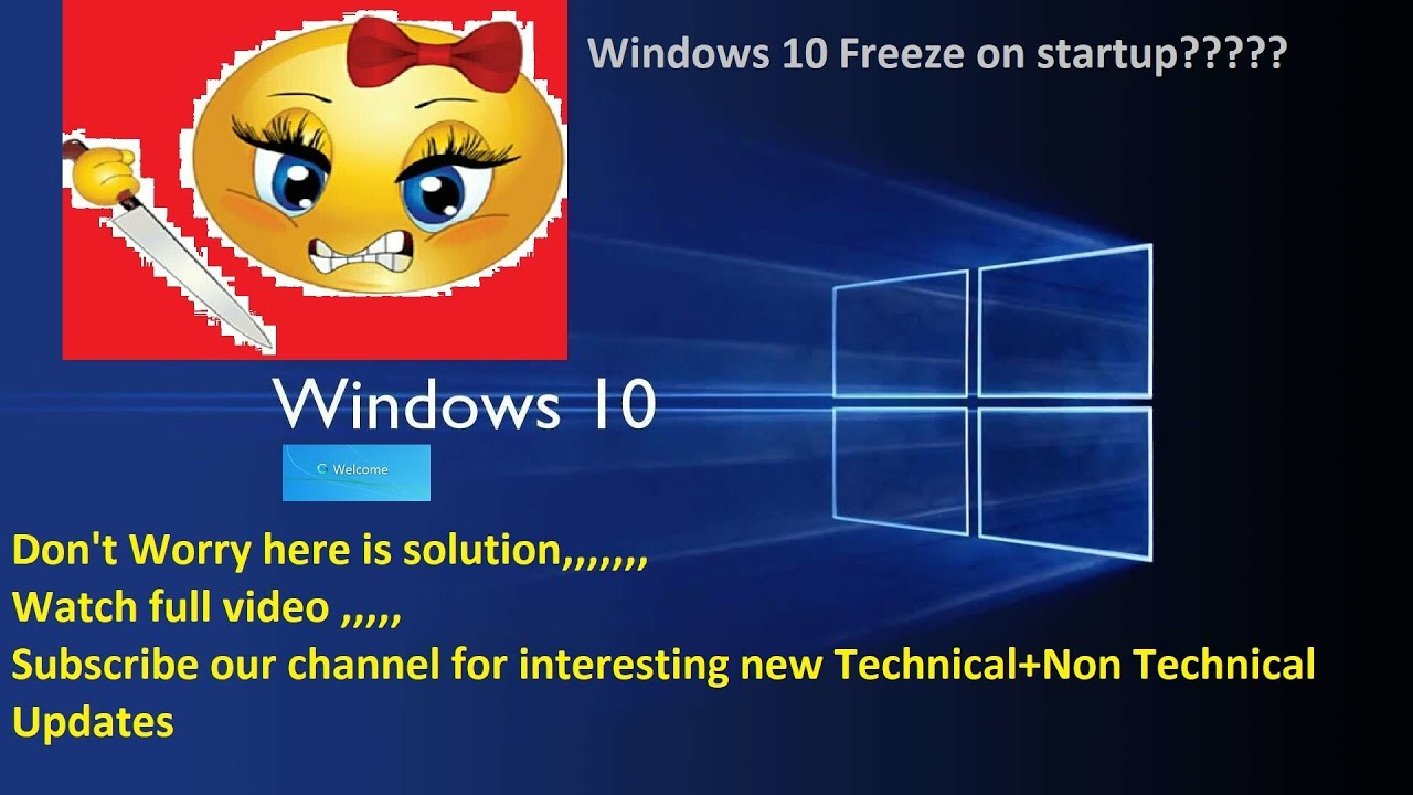 update to windows 10 stuck on black screen