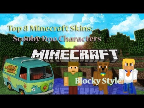Top 8 Minecraft Skins - Blocky Style Scooby Doo Cartoon Character ...