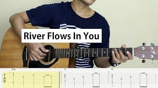 Fingerstyle Guitar - River Flows In You (Yiruma) - TAB Tutorial.