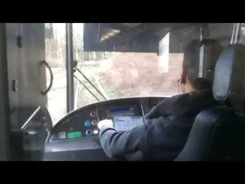 Riding the Brussels Pre-metro Tram 3: Driver's View (Trip to Europe)