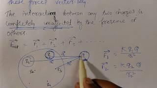 ElectroStatics Part 3 | Principle of Superposition [English & Hindi]