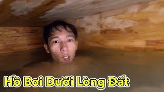 Lamtv - Thử Làm Hồ Bơi Dưới Lòng Đất   Build Most Secret Underground Swimming Pool