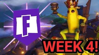 WEEK 4 SEASON 8 SECRET BANNER LOCATION! - Fortnite Battle Royale - SEASON 8 WEEKLY CHALLENGES!