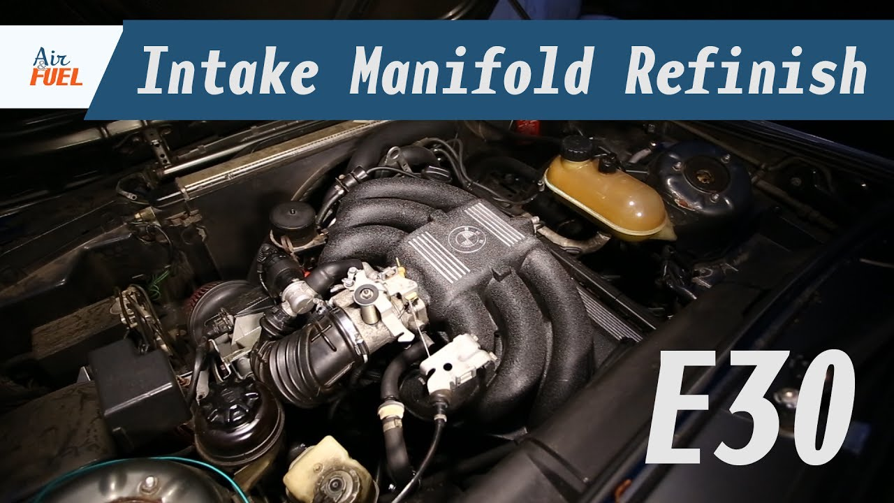 E30 Intake Manifold Removal and Refinish - Wrinkle Finish