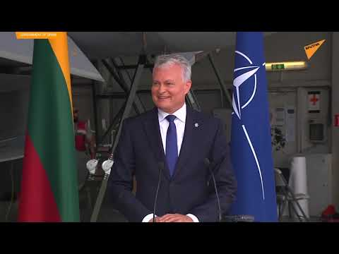 Russian Jet Alert Stops Press Conference at a NATO Base in Lithuania