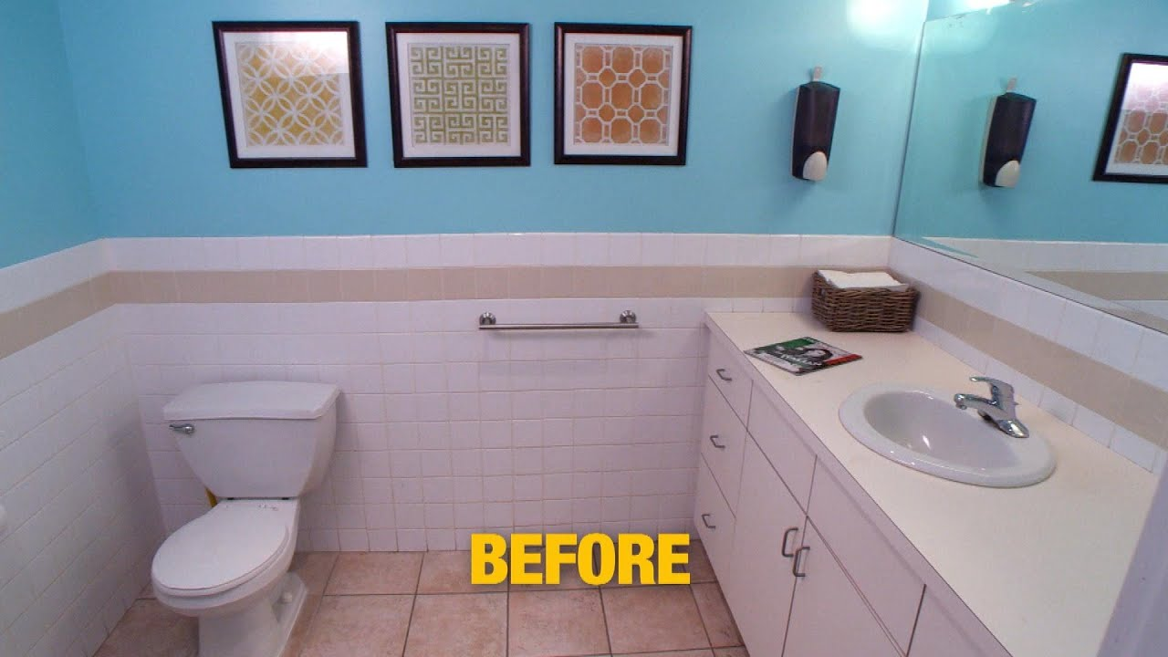 Bathroom Makeover See Our Backstage Bathroom Before After Its Major Renovation Youtube