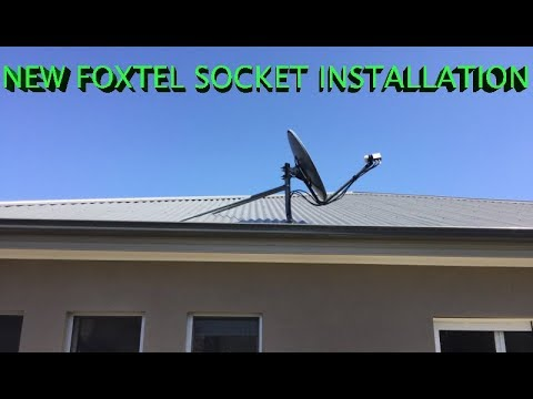Foxtel Satellite Wiring Diagram For Motorhome Socket Installation To Dish Sydney Youtube