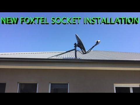 foxtel socket installation to satellite dish sydney