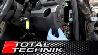 How to Remove Lower Dash Panel Under Steering Wheel - Audi A4 S4 RS4 - B6 B7 - 2001-2008