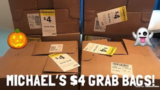 Michael's $4 Halloween Grab Bags! I Spent $24 On 6 Boxes!