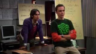 The big bang theory 3x04 Raj working with Sheldon
