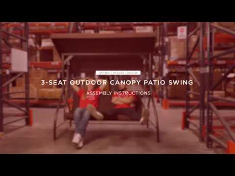 Assembly 3 Seat Outdoor Canopy Swing Sky1870 Sky2134 Sky2135