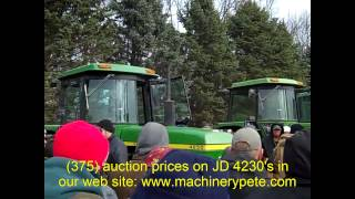 JD Tractors on Stanley Bergan Farm Auction 11/24/12: Leroy, MN
