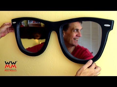 Cool Wayfarer Style Sunglasses Wall Mirror