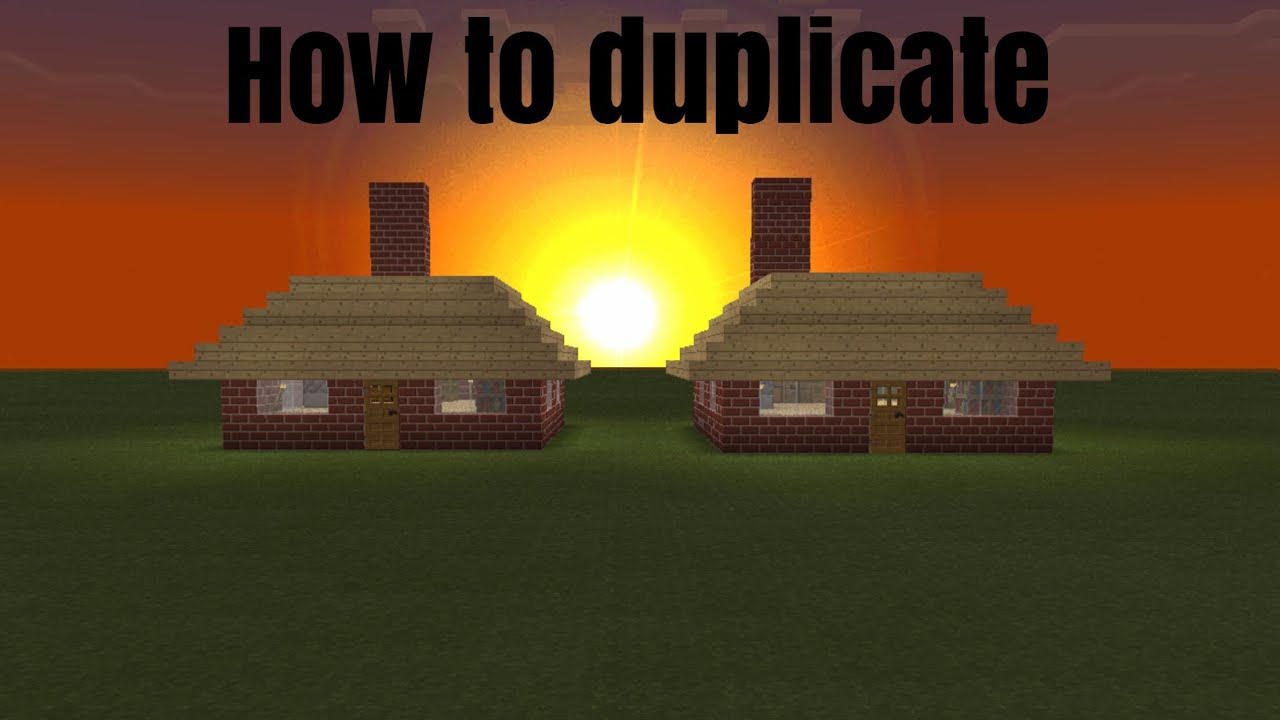 How To Copy And Paste Houses In  Minecraft