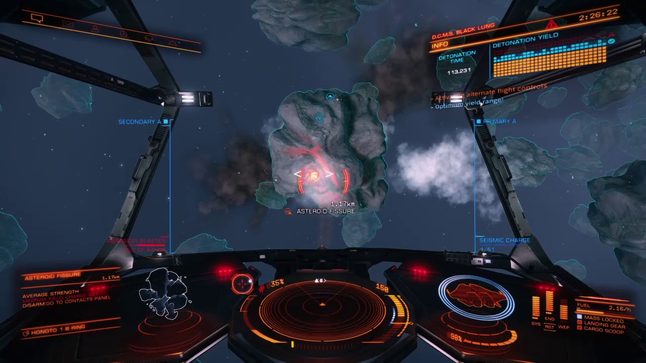 Elite Dangerous - Near DISASTER while deep core mining for Void Opals!