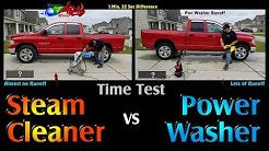 (Faster OR Better?) Power Washer -VS- Dry Carwash Steam Cleaner. Vapor Rino Commercial Steam Cleaner