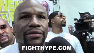 FLOYD MAYWEATHER COMMENTS ON MANNY PACQUIAO