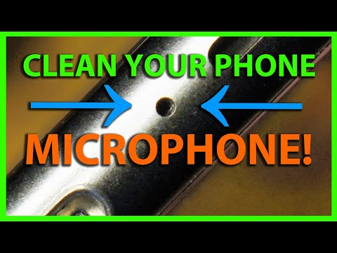 How To Clean a Microphone Port Hole on a Smart Phone