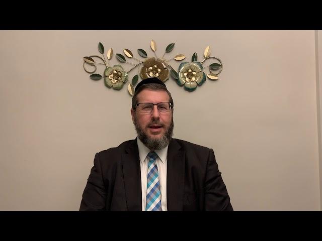 Message from Rabbi Mordechai Palgon