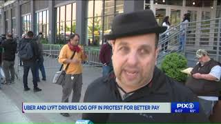 Uber, Lyft drivers log off in protest for better pay