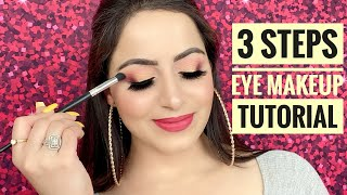 How to Apply Eyeshadow in 3 Steps in HINDI | Simple eye makeup for beginners | Deepti Ghai Sharma