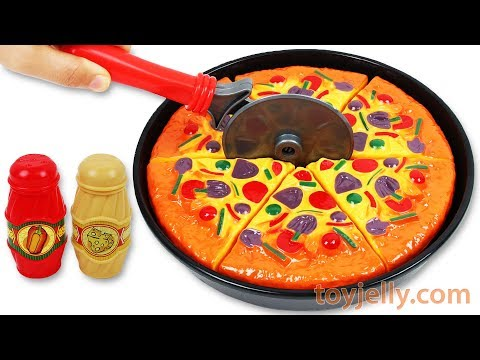 Toy Velcro Cutting Play Doh Pizza Microwave Toy Ice Cream Le
