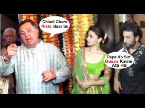 Ranbir Kapoor EMBARASSED After Rishi Kapoor FIGHT Wid Reporter Front Of GF Alia Bhatt @ Diwali Party
