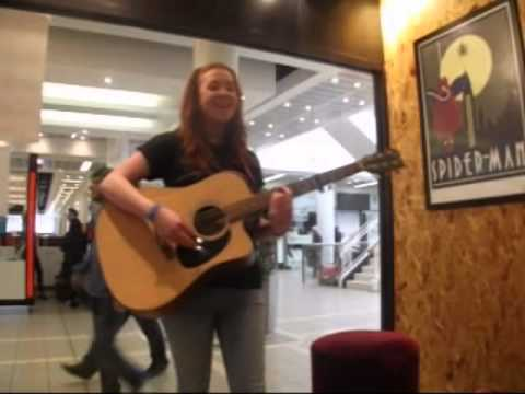 Sonja Sleator playing live at Head Records, Belfast