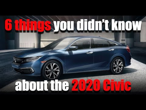 6 things you didn't know about the 2020 Honda Civic