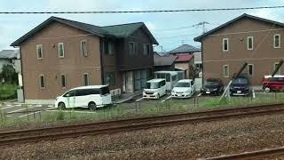 あきた犬号、男鹿なまはげ号、秋田新幹線こまち 並走シーン(こまち車内より) 2018年9月1日