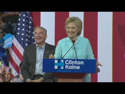 Clinton Introduces VP Pick Kaine At FIU