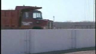 Dump Truck Hits Wall