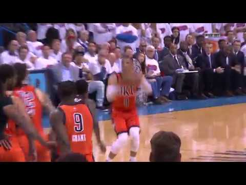 Adams and Westbrook Plan Intentional Missed Free Throw | April 23, 2017