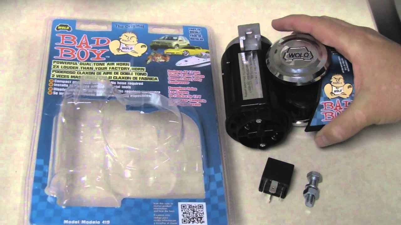 wwge123 wolo bad boy horn and wolo wire harness youtube rh youtube com