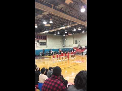 La Guardia Cheerleaders at homecoming game